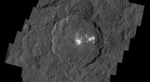 Occator Crater which contains the brightest spots on Ceres / Image courtesy of NASA