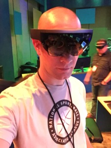 A HoloLens is like wearing a heavy set of sunglasses attached to a headband. Which is why it's really curious that it's so easy to forget they are even there.