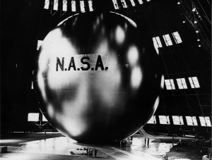 NASA's first communications satellite, Echo / Image courtesy of NASA
