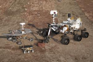NASA's Martian rovers. From left to right, Spirit/Opportunity, Sojourner, Curiosity / Image courtesy of NASA