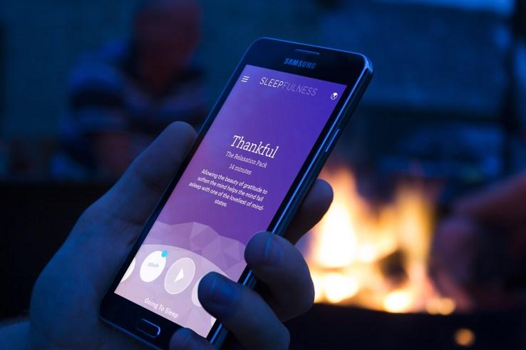 Sleepfulness photograph man nighttime outdoors Samsung Galaxy