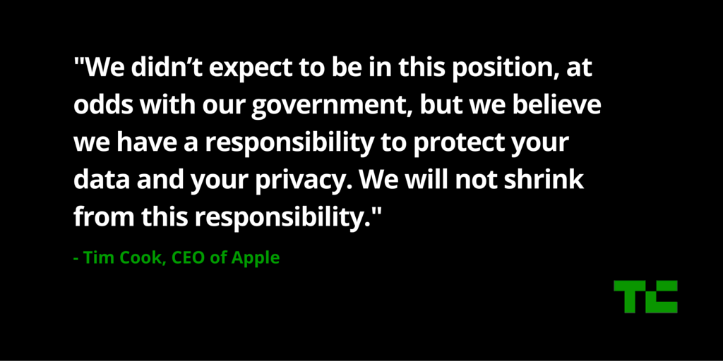 Tim Cook of Apple on Privacy