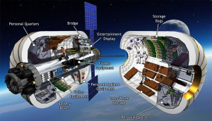 Illustration of B330 habitat / Image courtesy of Bigelow Aerospace