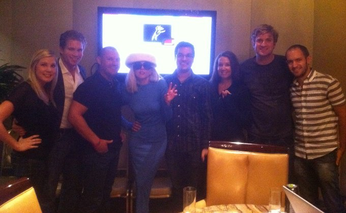 A rare photo from 2011 of Lady Gaga meeting some of the early Backplane team
