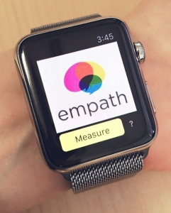 The EmoWatch app identifies and tracks users's emotions from their voices, regardless of language, by analyzing vocal properties