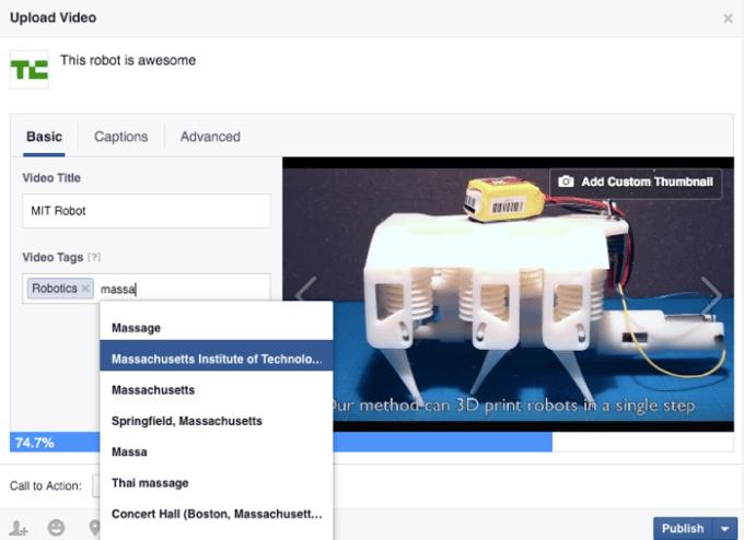 Facebook Video Tagging