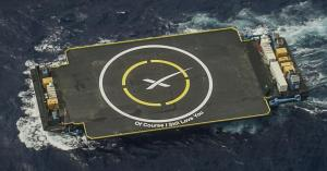 SpaceX's autonomous drone ship / Image courtesy of SpaceX