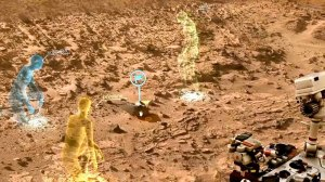 A screen view of OnSight / Image courtesy of NASA/JPL