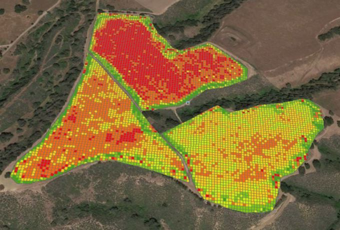 A soil map created using agricultural drones and PrecisionHawks' DataMapper.