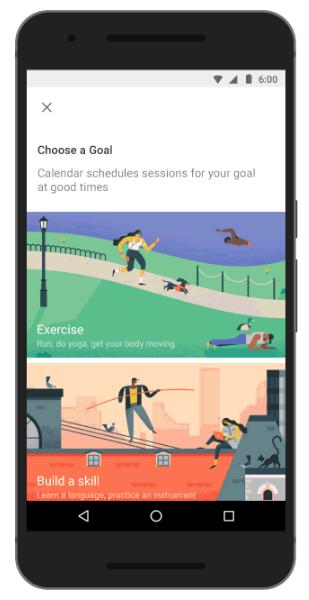 Google Calendar Goals
