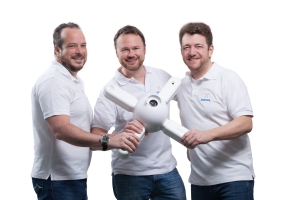 Dedrone cofounders and their DroneTracker hardware.