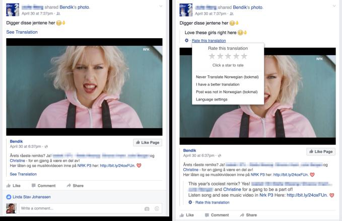 Facebook language Translation Tool