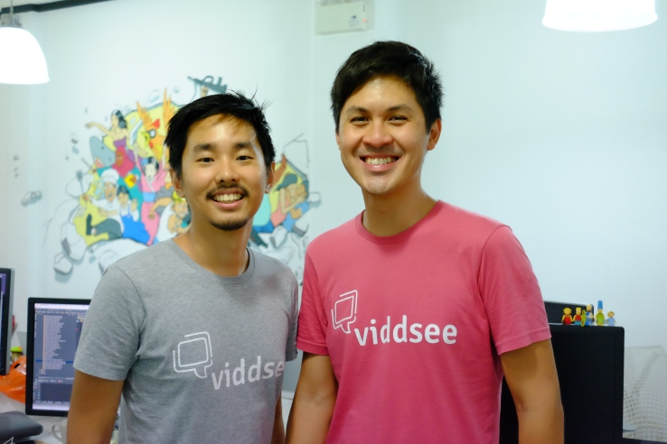 Viddsee founders Ho Jia Jian and Derek Tan