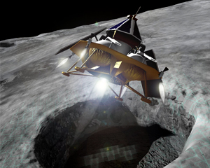 Illustration of Astrobotic's Griffin Lander / Image courtesy of Astrobotic