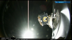 Successful JCSAT-14 deployment from Falcon 9 / Screenshot from SpaceX livefeed