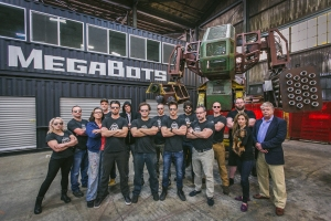 MegaBots employees in Oakland, Calif.