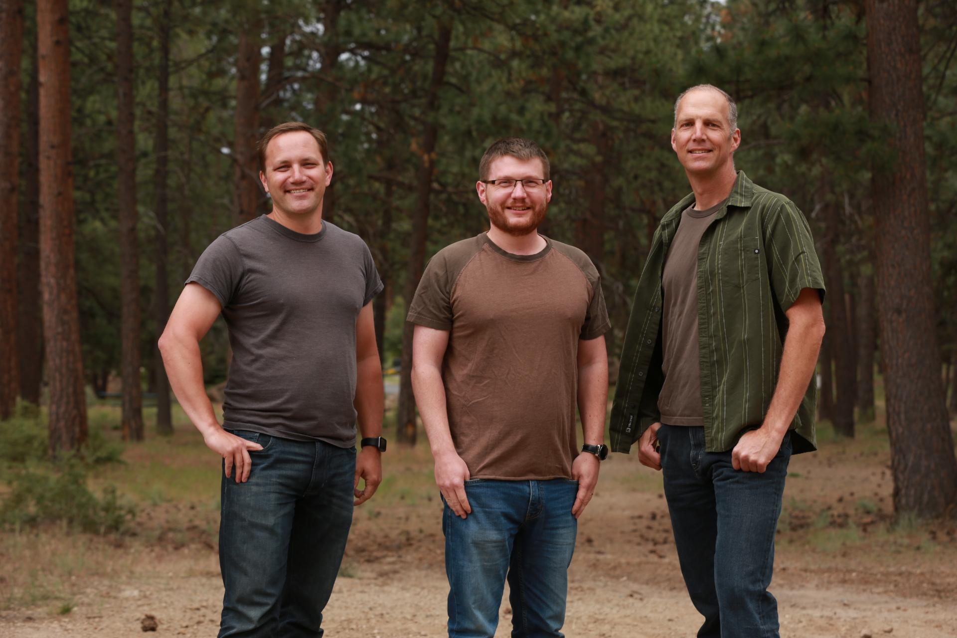From left: James Gentes, Mark Silliman, and Robert Kieffer