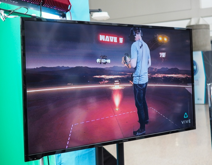 Another successful VR demo, at HTC, that showed room scale gaming that actually worked.