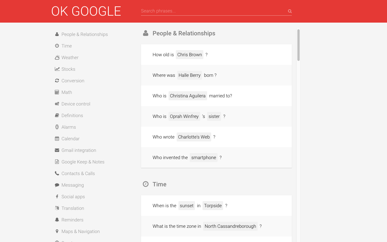 ok google screen