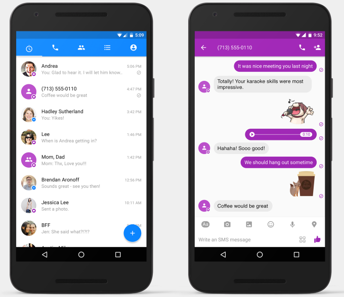 SMS in Messenger