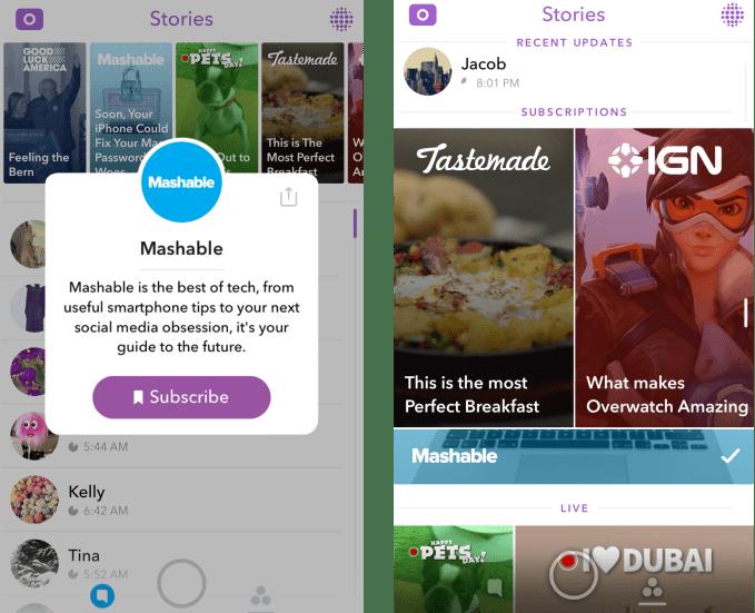 Snapchat Subscriptions