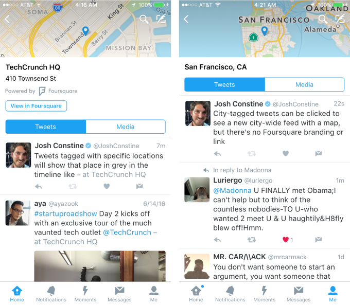 Twitter Location Feed Maps