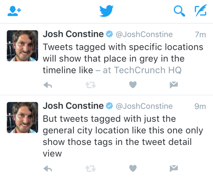 Twitter Location Tags