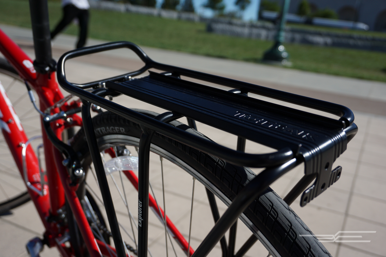 Topeak rear bike rack. Photo: Eve O'Neill