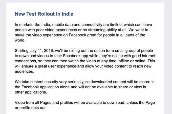 Facebook Offline Video