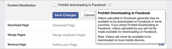 Facebook Video Download Opt Out