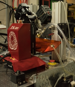 3Scan's robotic, high throughput microscope at work analyzing tissue samples.