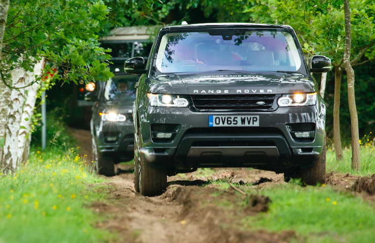 Land Rover testing
