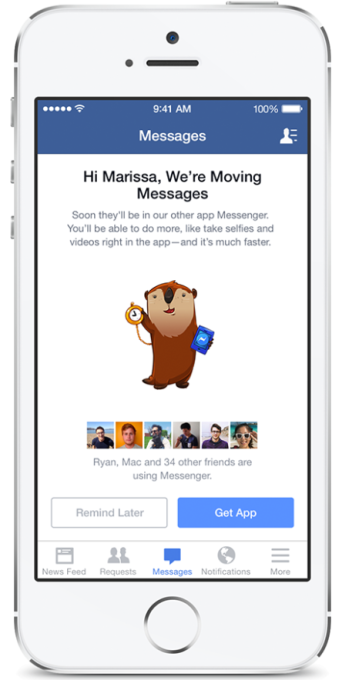 Messenger forced migration