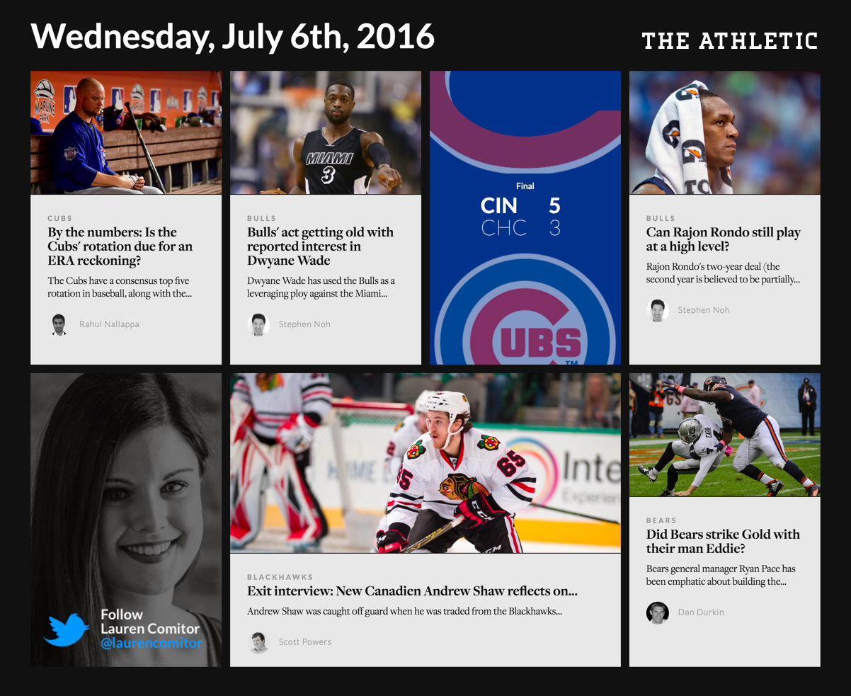 The Athletic Screenshot - July 6