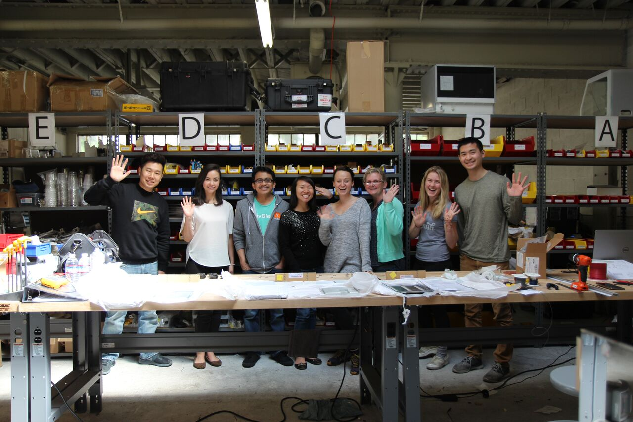 The Replenish team hanging out in their R&D lab