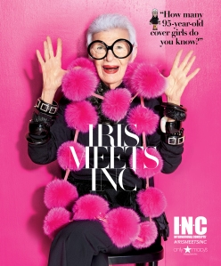 Fashion designer Iris Apfel.