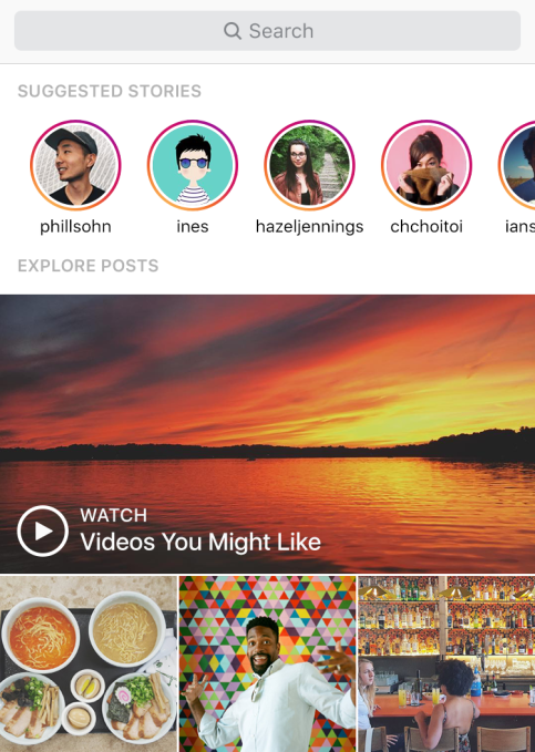 Instagram Explore Stories