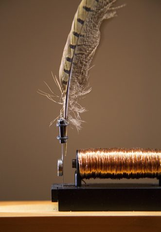 By exposing the coils causing the vibrations, Slow Dance gets a steampunk feel to it.