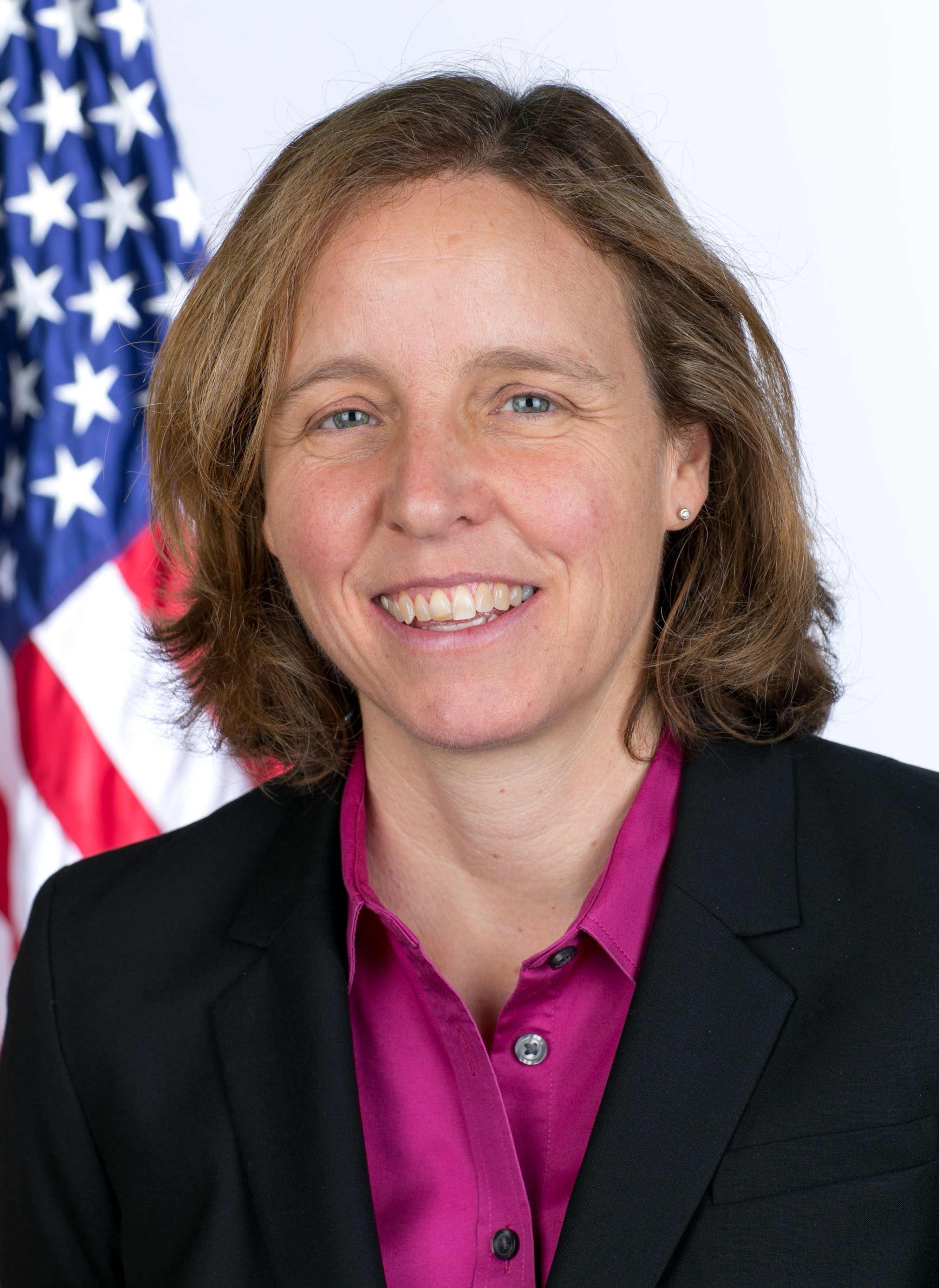 Megan Smith, OSTP, portrait taken during the commissioned officer portrait session in the Eisenhower Executive Office Building of the White House, Sept. 30, 2014. (Official White House Photo by Chuck Kennedy)