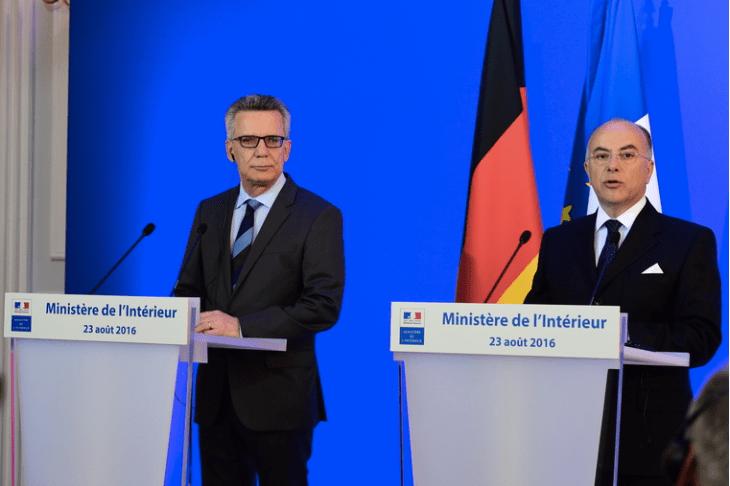 Bernard Cazeneuve and Thomas de Maizière