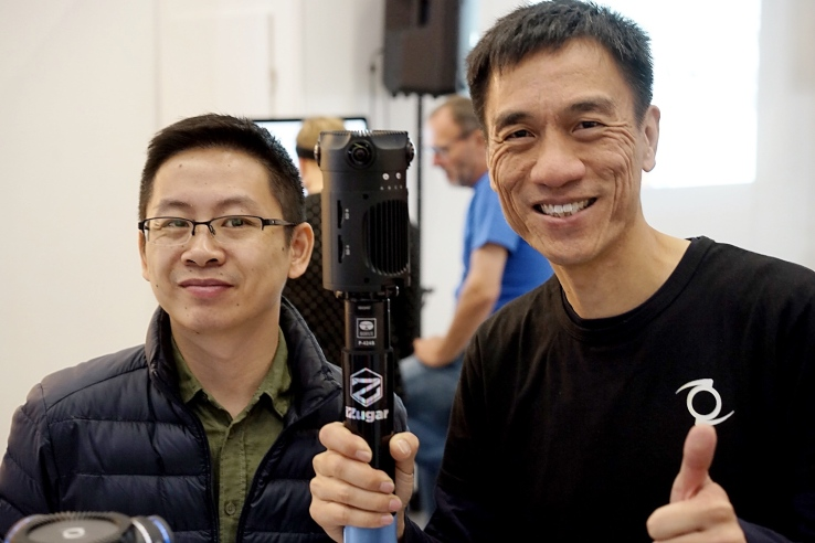 Eric Chen, Co-founder of Z-Cam and Kinson Loo, the company's CEO, posing with Z-Cam S1