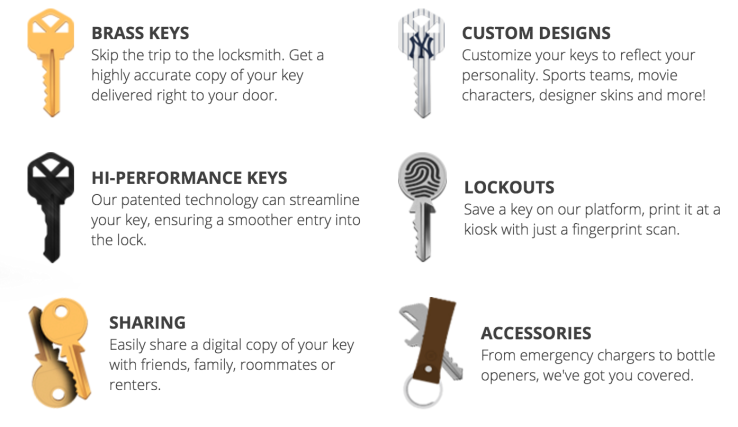 In addition to the obvious services, KeyMe launches a series of value-add services for those who magically want to turn one key onto many
