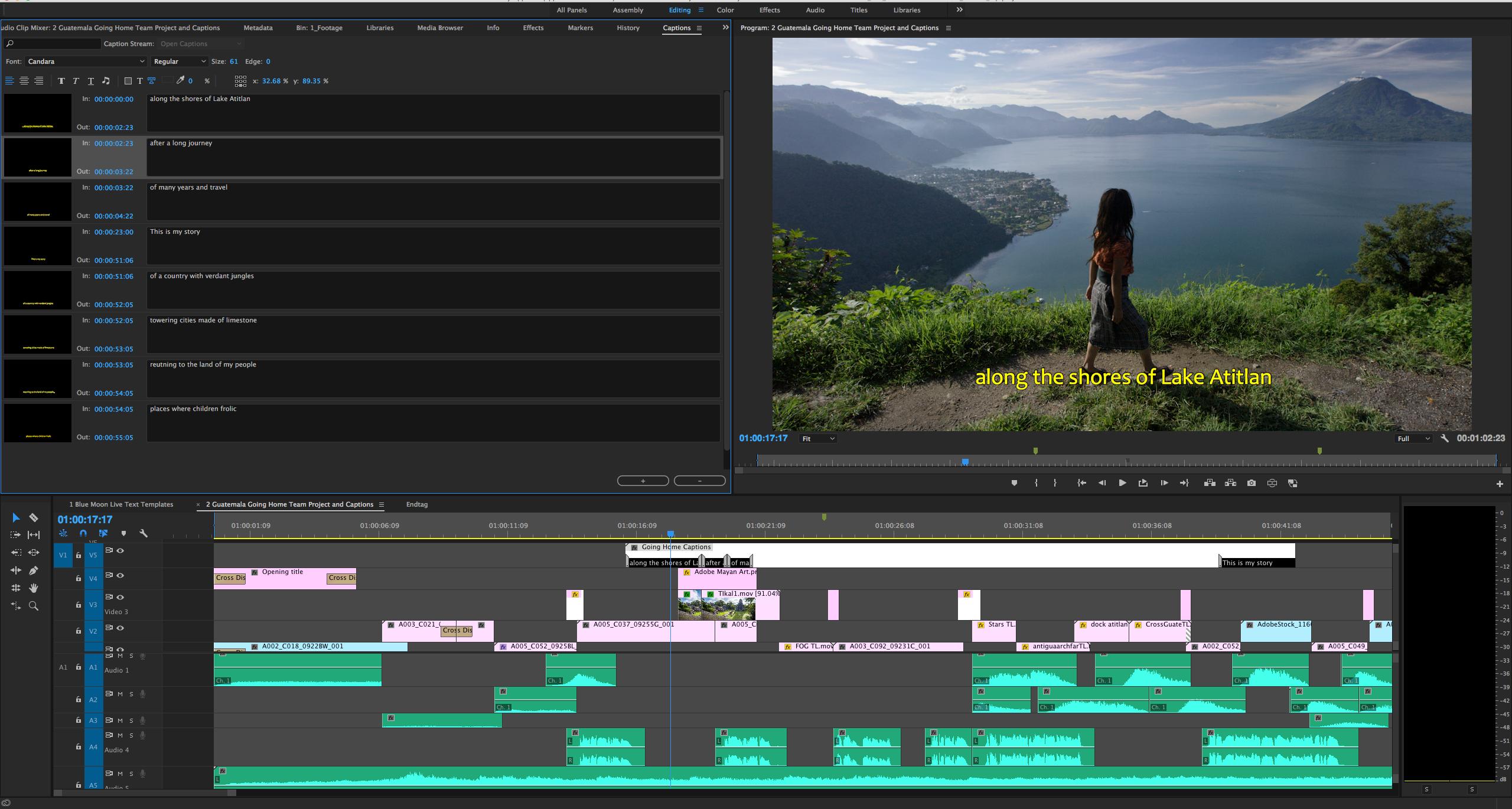 Premiere Pro Captions Update