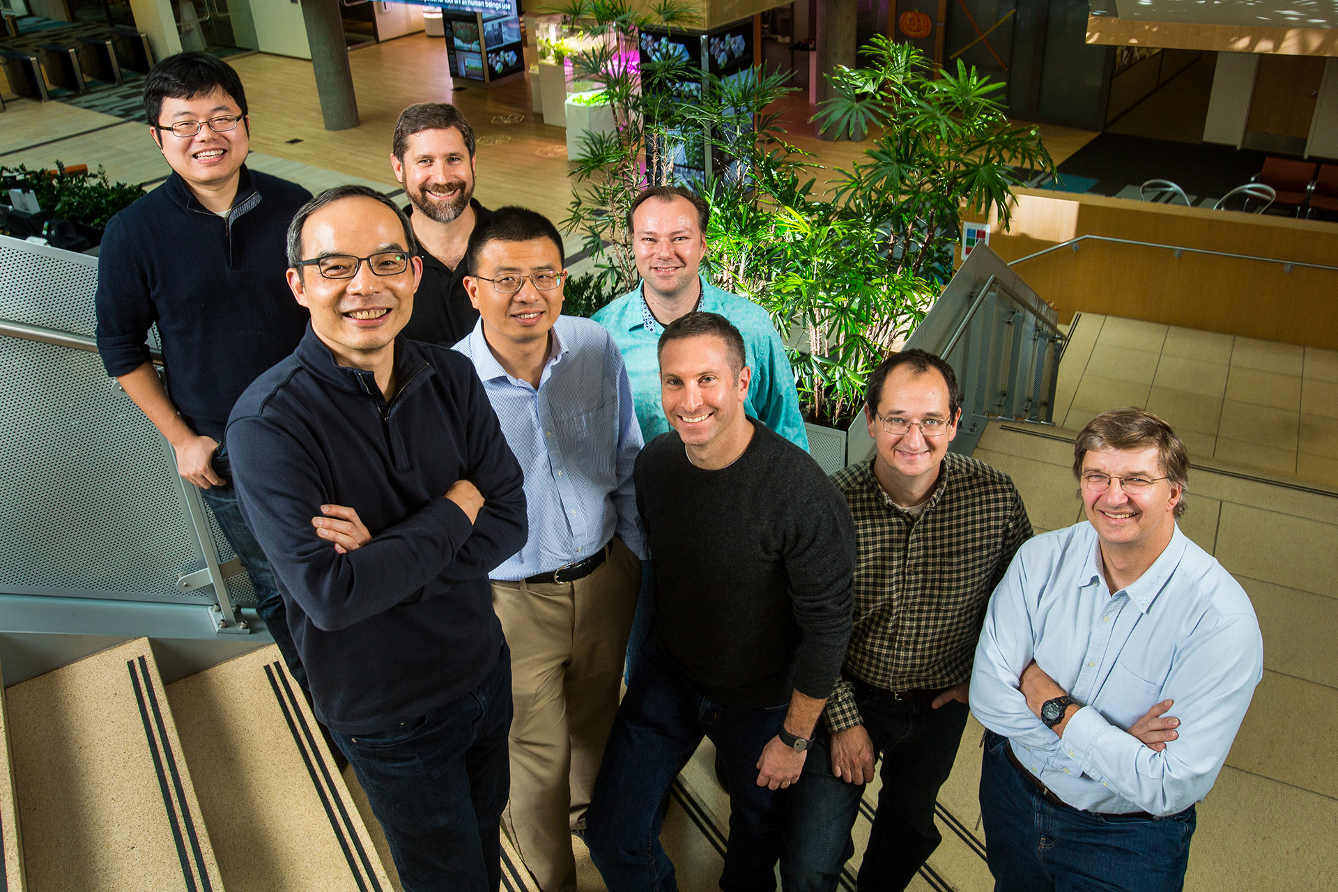 The team at Microsoft's Speech & Dialog research group.