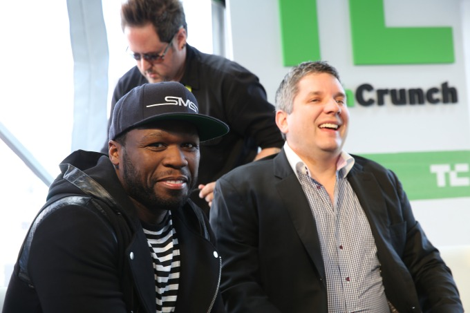 TechCrunch Editor John Biggs shared a joke with Mr. Cent.
