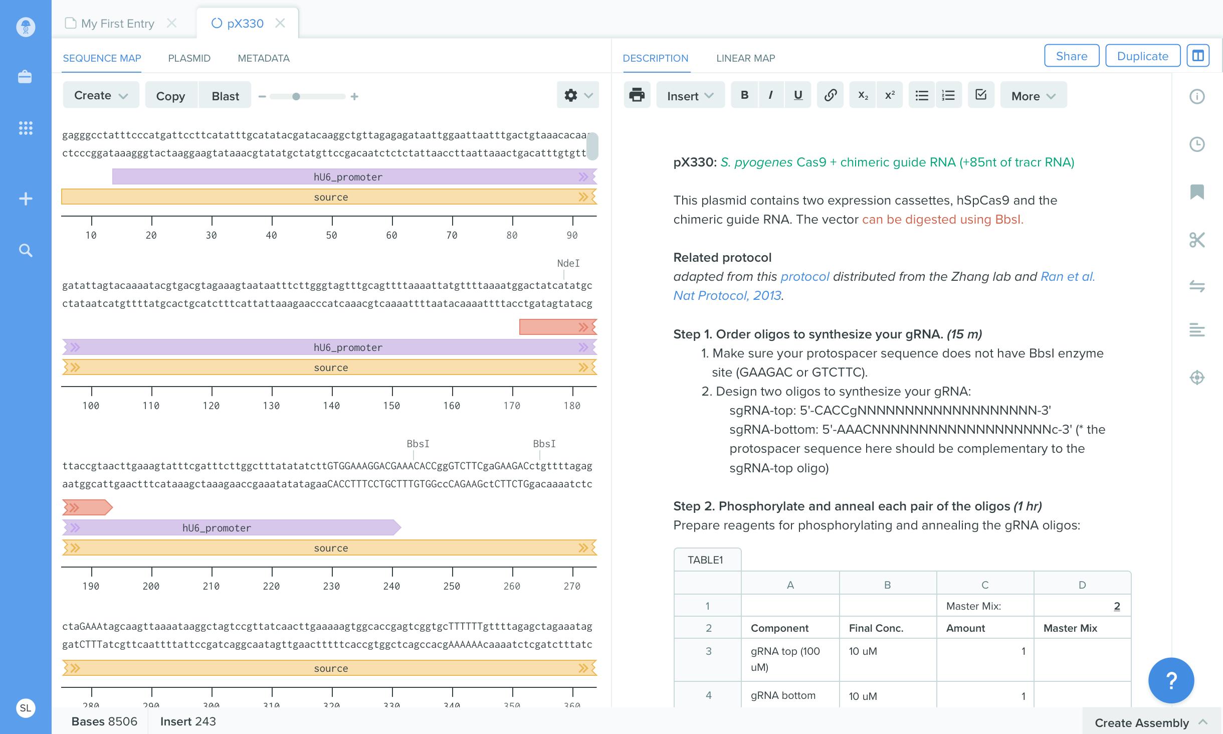 benchling-product-screenshot