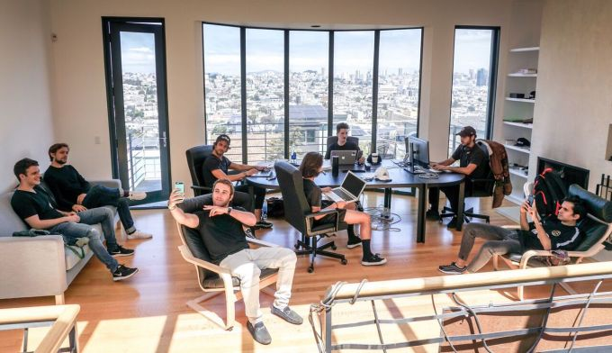 The Tribe team in their San Francisco live/work hacker house