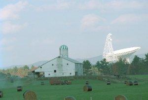 Green Bank Telescope in Pocahontas County, West Virginia / Image courtesy of West Virginia University