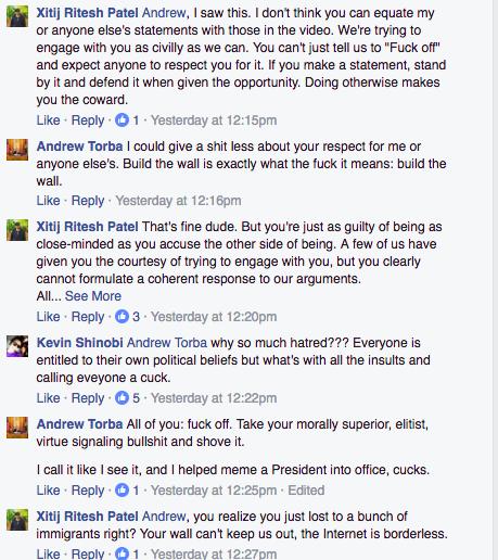 Andrew Torba Facebook