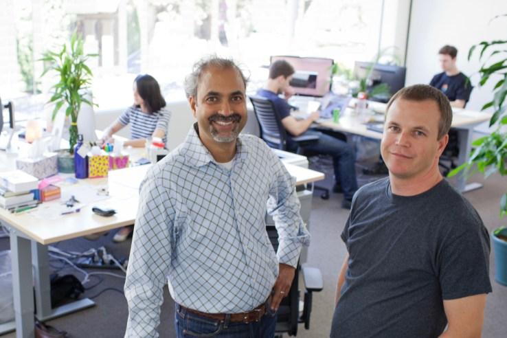 Zugata cofounders Srinivas Krishnamuri (CEO) and Plilippe Van Nuijs (CTO).